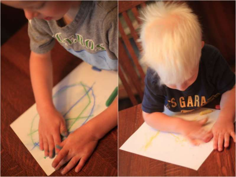 Fun Process Art for the Kids: Make Rain Art!
