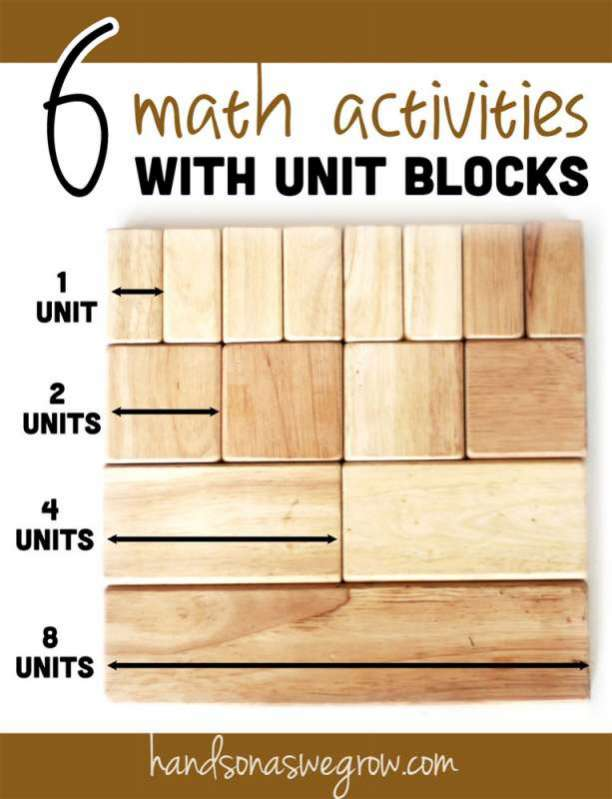 6 Math Activities for Kids Using School Unit Blocks