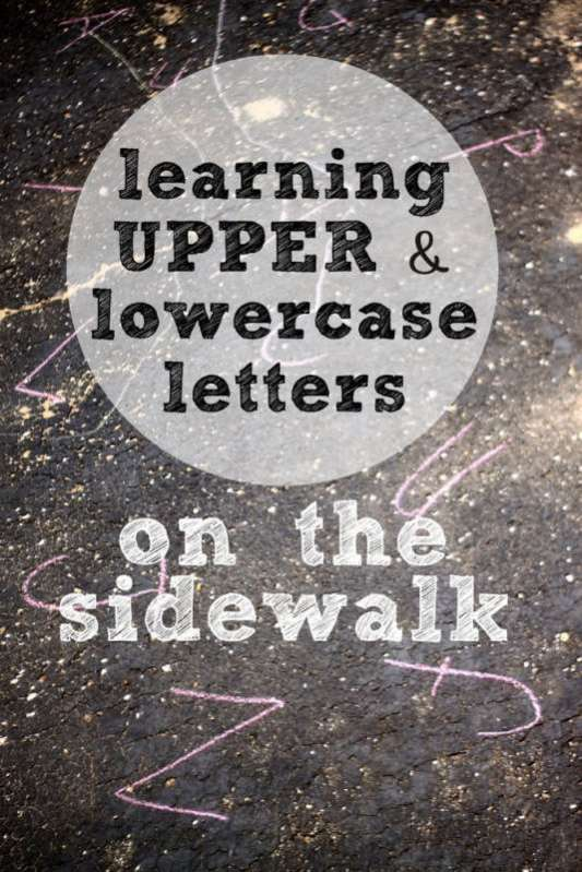 Learning Upper and Lowercase Letters on the Sidewalk