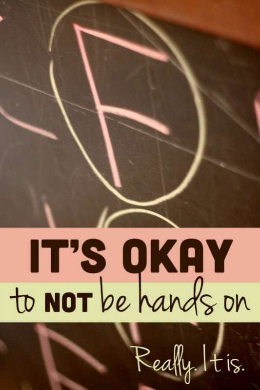It's Okay to NOT do Hands on Activities with the Kids. Really. It is.