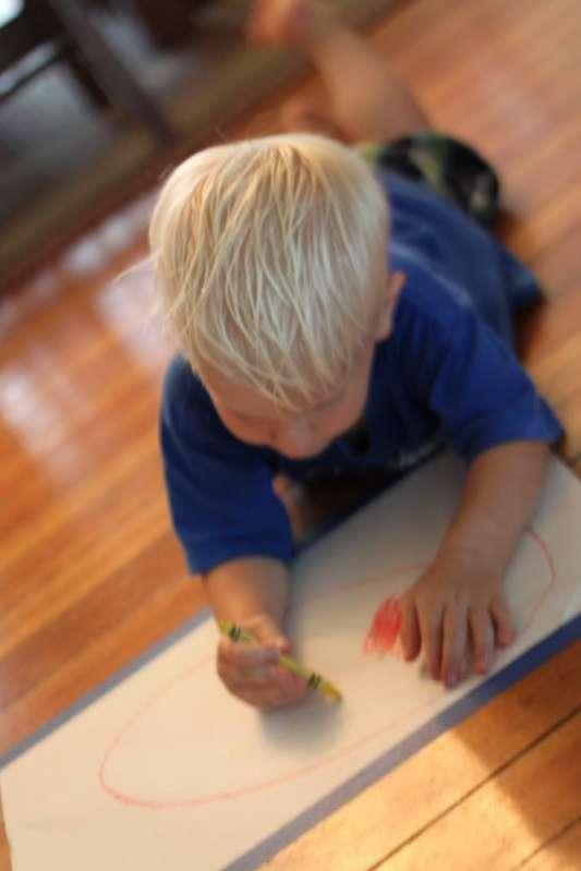 Drawing on the Floor Kids Art!