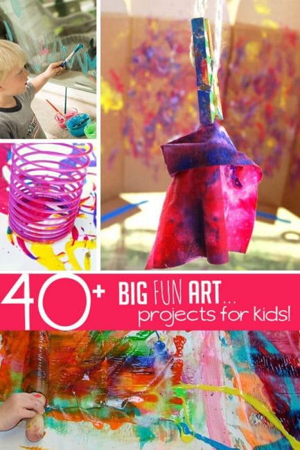 We love to make art - especially big art! Try these cool projects to do with your kids!