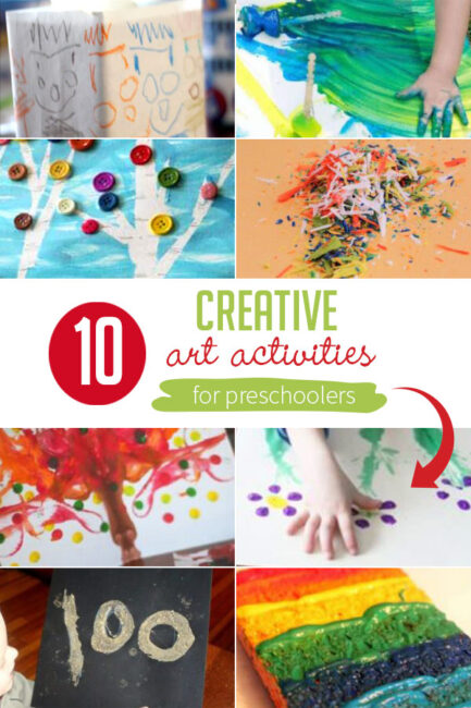 Art activities get much more intricate and focused when toddlers become preschoolers. Check out these 10 fun creative art activities for preschoolers!