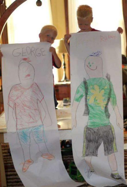 DIY back to school self portraits!