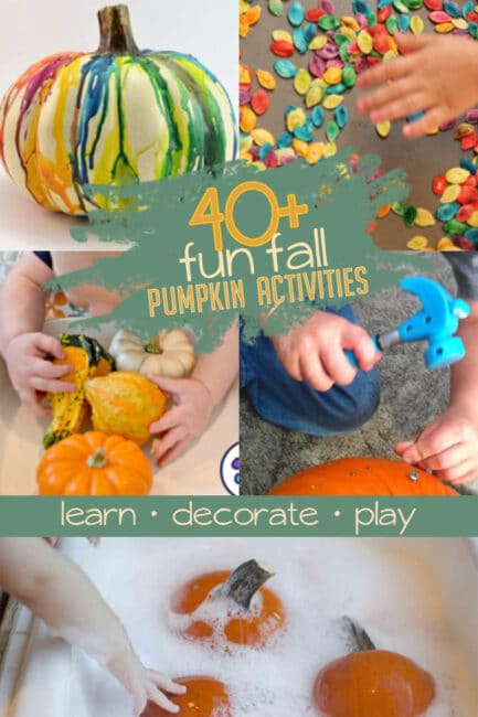 Go beyond simple carving with 40+ pumpkin activities to do with kids this fall!