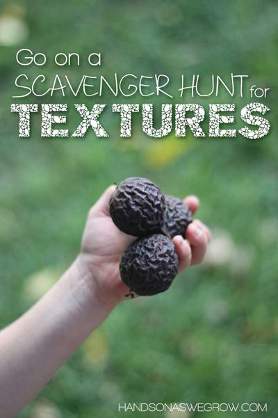 Go on a scavenger hunt for textures