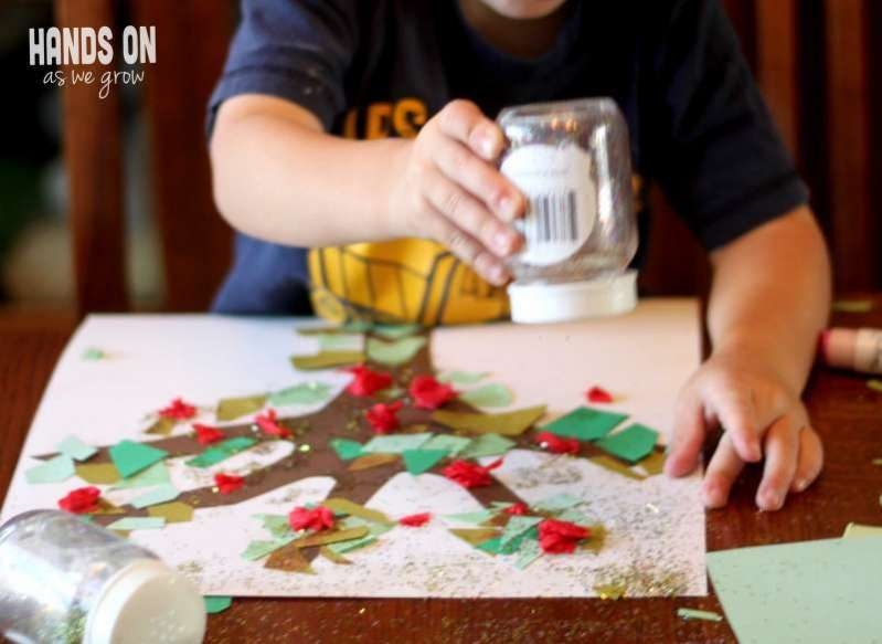Craft a festive apple tree as one of your fun back to school activities!
