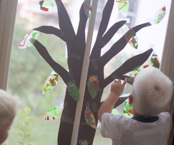 a window fall tree craft