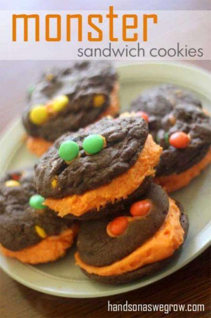 Monster Chocolate Sandwich Cookies!