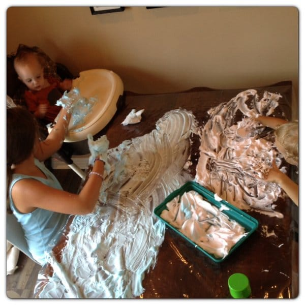 Siblings get messy together! 1 of the 5 Activities to Help Strengthen Sibling Relationships.