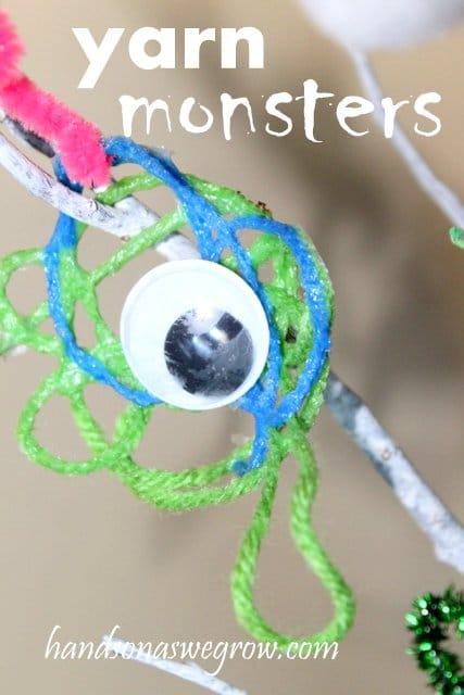 Yarn Monster Halloween Craft