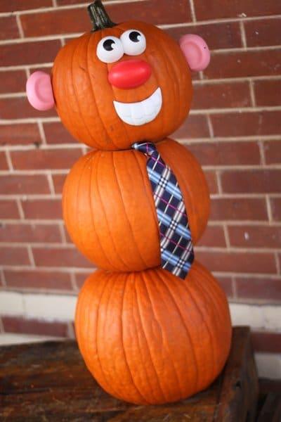 No Carve Pumpkin Decorating: Mr. Pumpkin Man