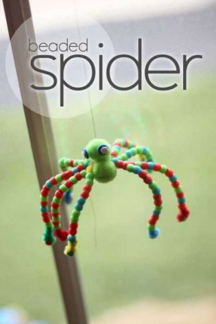 A Halloween Beaded Spider Craft For Kids Hands On As We Grow