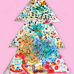 Sparkly Christmas Tree Craft
