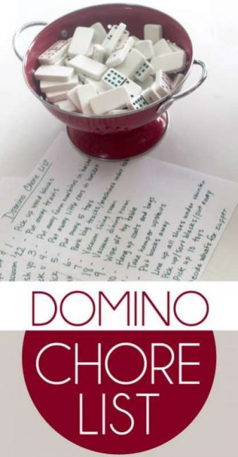 Get kids excited about doing chores around the house with a Domino drawing chore list!