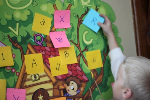 Letter scavenger hunt and match the letters