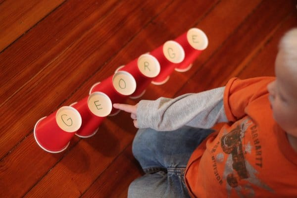 Name recognition with paper cups