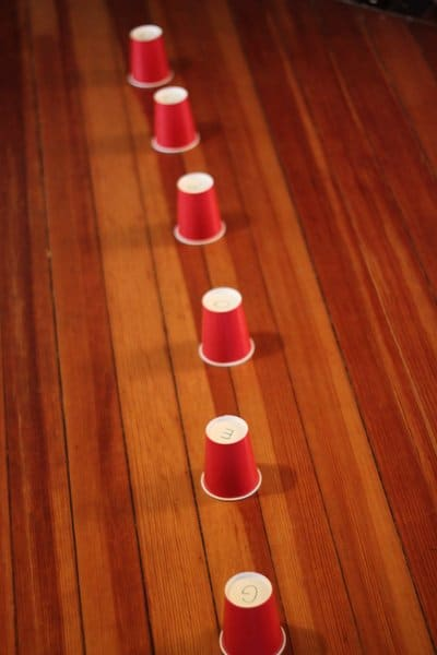 Paper cup ring toss