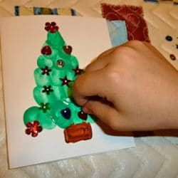Thumbprint Christmas Tree Card