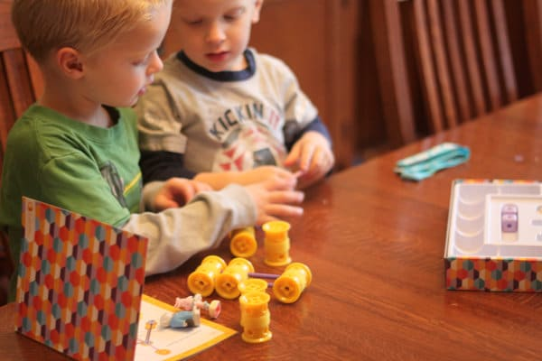Building with GoldieBlox together