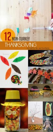 Some thanksgiving crafts and activities for the kids to do that aren't turkeys!