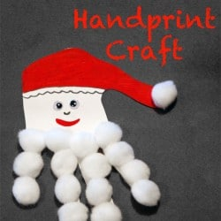 Santa Handprint Craft