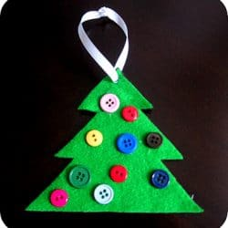 Button Tree Ornament
