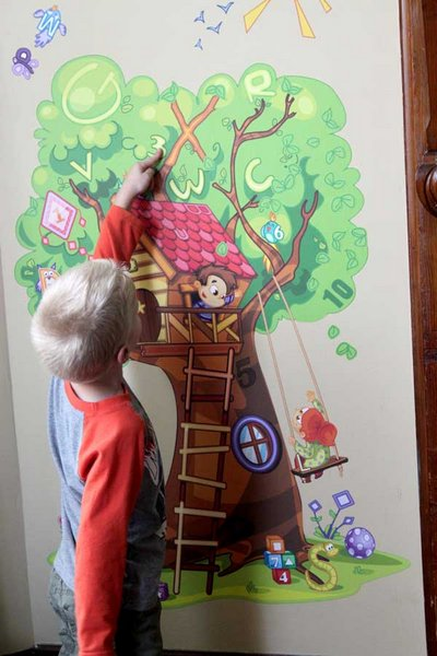 Searching Tree wall decal for kids from Wallzical