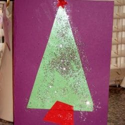 Sparkly Christmas Tree Shapes Card