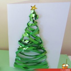 Ribbon Christmas Tree Art
