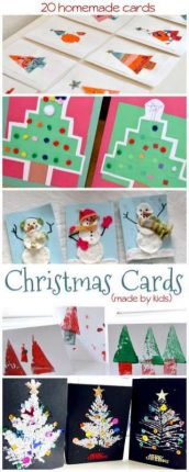 Homemade Christmas Cards for Kids