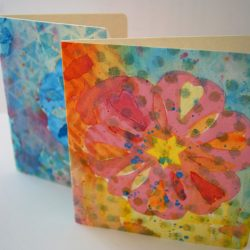 Watercolor Snowflake Cards