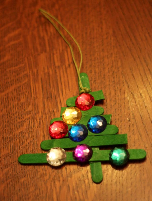 String to hang the Christmas tree ornament