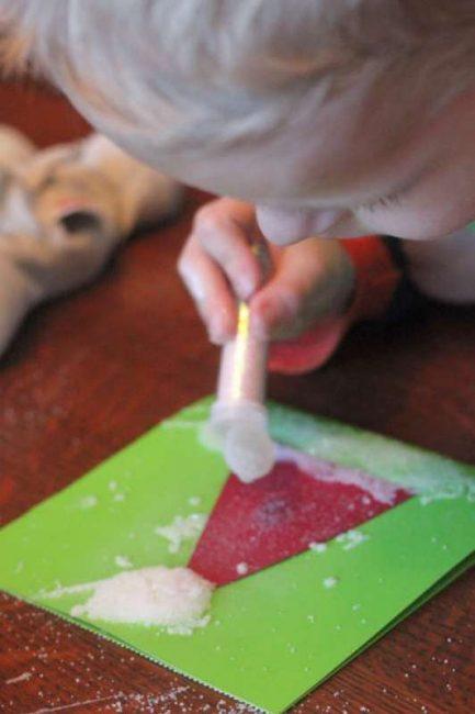 Sparkly Santa hat Christmas card