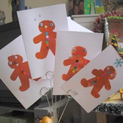 Gingerbread Men Stenciled Card