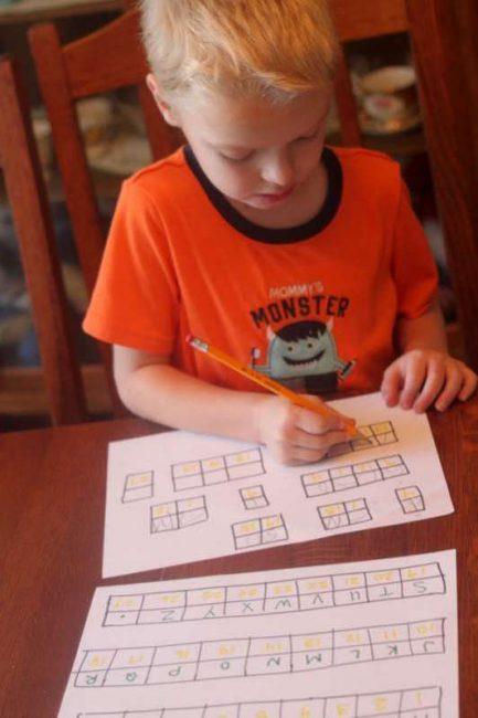Solve a Simple Secret Code for Kids