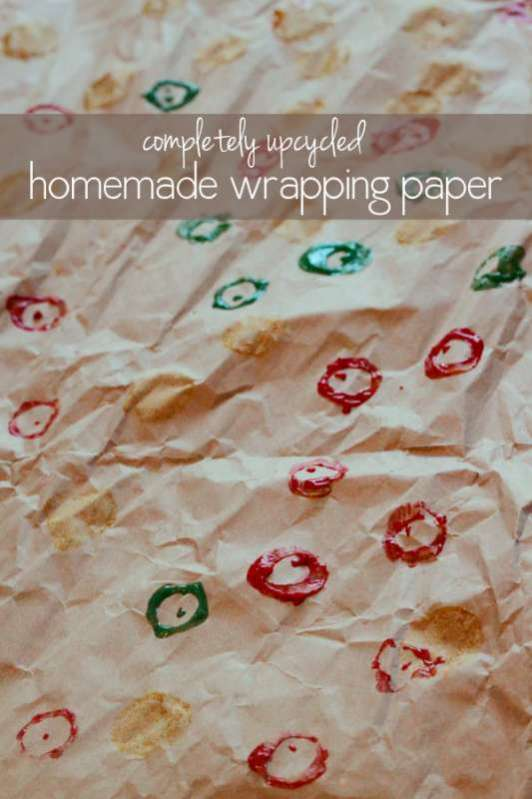Completely Upcycled Homemade Wrapping Paper Hands On As