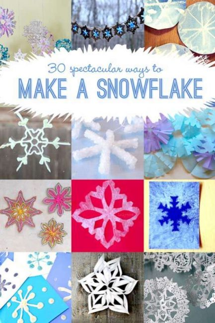 30 Ideas Ways To Make A Snowflake Hands On As We Grow