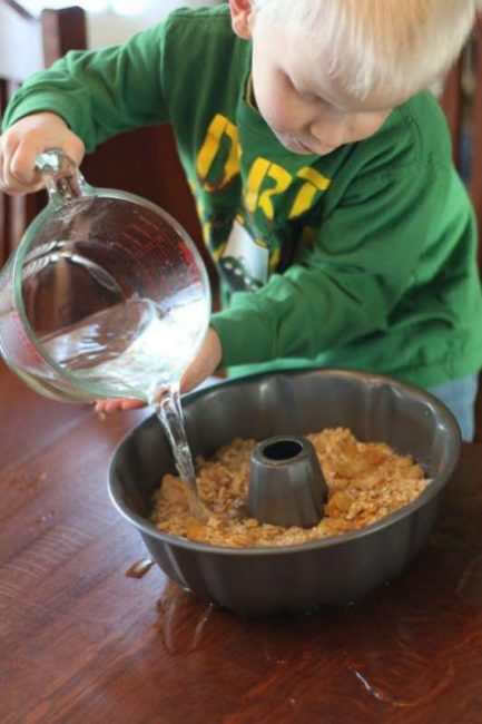 Pouring water is a great fine motor activity