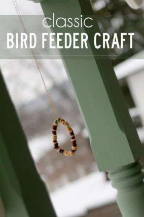 Classic bird feeder craft great for fine motor skills