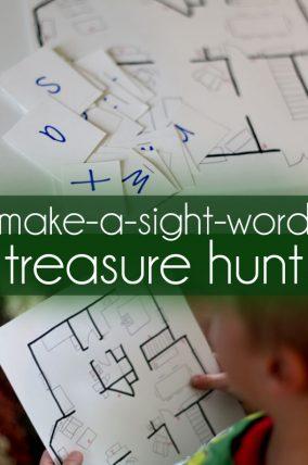 Make a treasure hunt to make sight words!