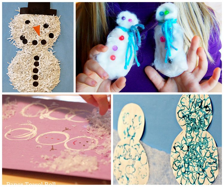 Lots of snowman crafts for kids to make
