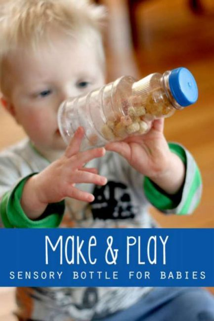 A quick make it and play with it sensory bottle for babies