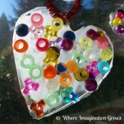 Catch the sun with a cute glue sun catcher from Where Imagination Grows