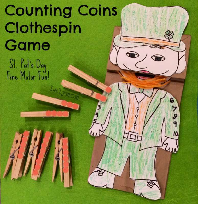 St.-Patricks-Day-Craft-for-Preschoolers-Counting-Coins-Fine-Motor-Game-from-Lalymom