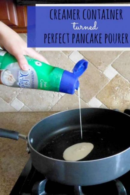 International Delight bottle makes pancake pouring easy