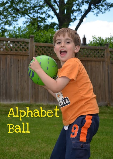 Alphabet Ball Learning Game for Preschoolers - with variations for learning different things and for different ages of kids