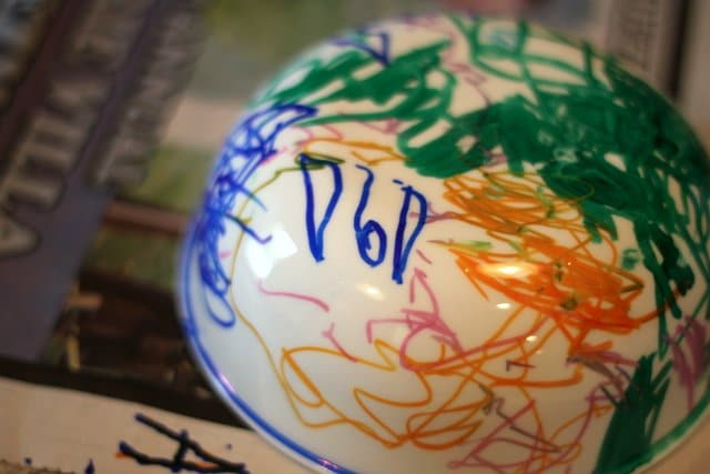 Sharpie Decorated Cereal Bowl
