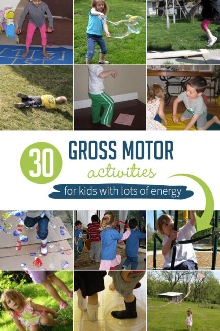 Gross motor skills activities for kids are important in the development of any child. These activities also help out in another area: Burning off energy.