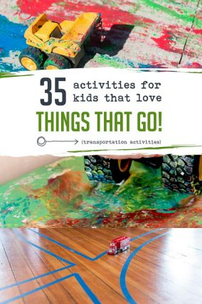 35 vehicle transportation activities for kids that like things with wheels